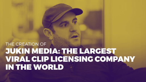 Breaks down how his company generated 80 million followers and 3 billion views per month | The creation of Jukin Media the largest viral clip licensing company in the world