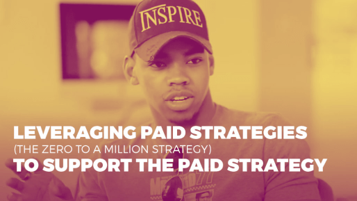 Breaks down the strategies he used to generate 4.3 million followers and 350 million views per month organically | Leveraging paid strategies (the zero to a million strategy) to support the paid strategy