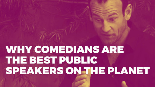 Breaks down how to use comedy to be a better public speaker | Why comedians are the best public speakers on the planet