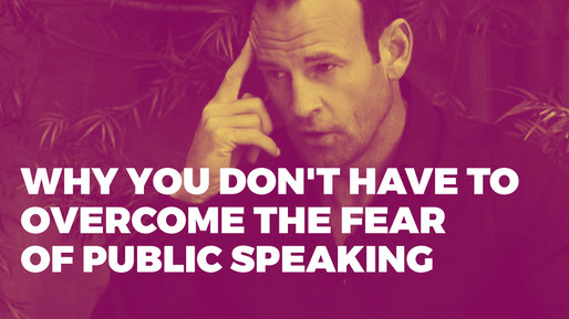 Breaks down how to use comedy to be a better public speaker | Why you don't have to overcome the fear of public speaking