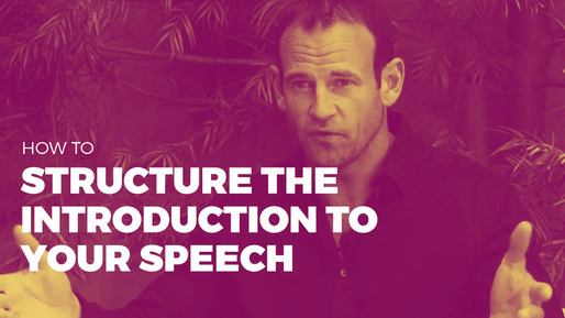 Breaks down how to use comedy to be a better public speaker | How to structure the introduction to your speech