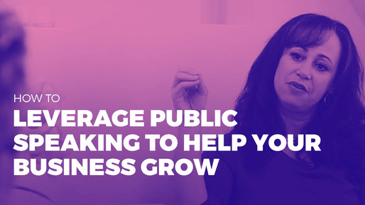 Explains how to leverage public speaking to boost your career | How to leverage public speaking to help your business grow