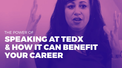 Explains how to leverage public speaking to boost your career | The power of speaking at TedX & how it can benefit your career