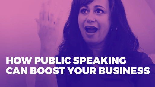 Explains how to leverage public speaking to boost your career | How public speaking can boost your business