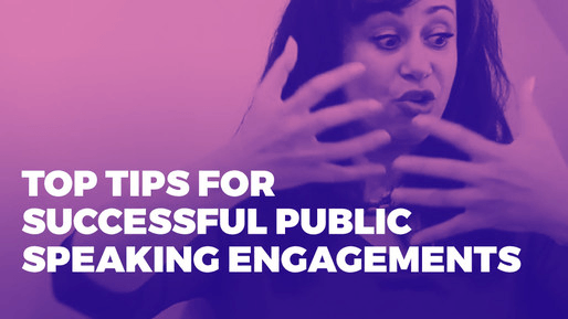Explains how to leverage public speaking to boost your career | Top tips for successful public speaking engagements